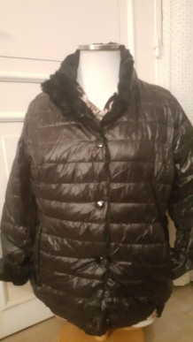 Manteau reversible imitation fourure